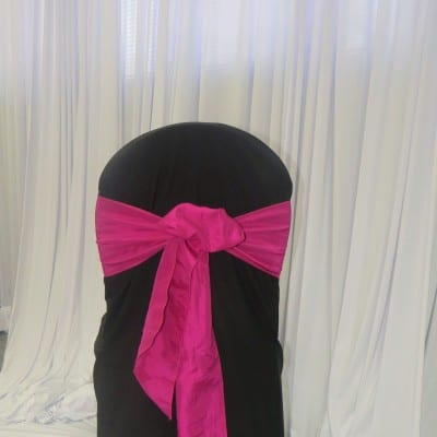 Black Fitted Polyester Chair Cover