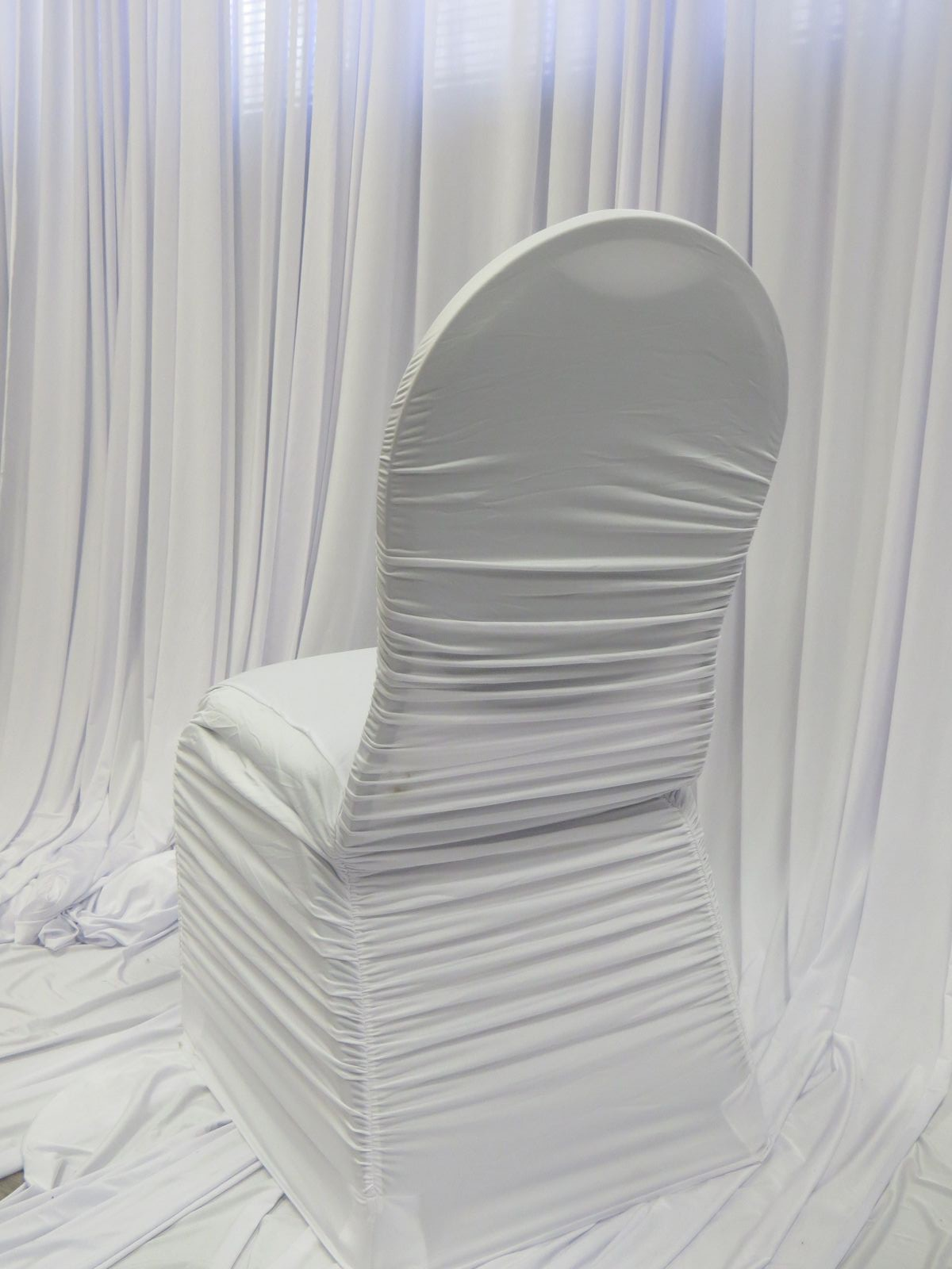 White Flair Chair Cover