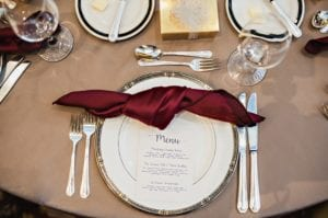 Beach Manhattan Linen-Merlot Satin Knotted Napkin