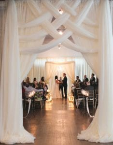 Criss-Cross Entrance Drape