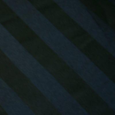 Black Satin Stripe Linen