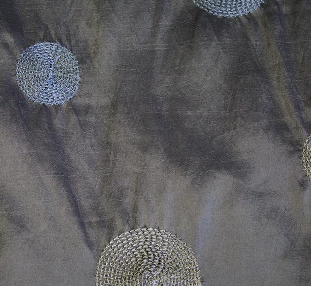 Charcoal Circle Taffeta Linen