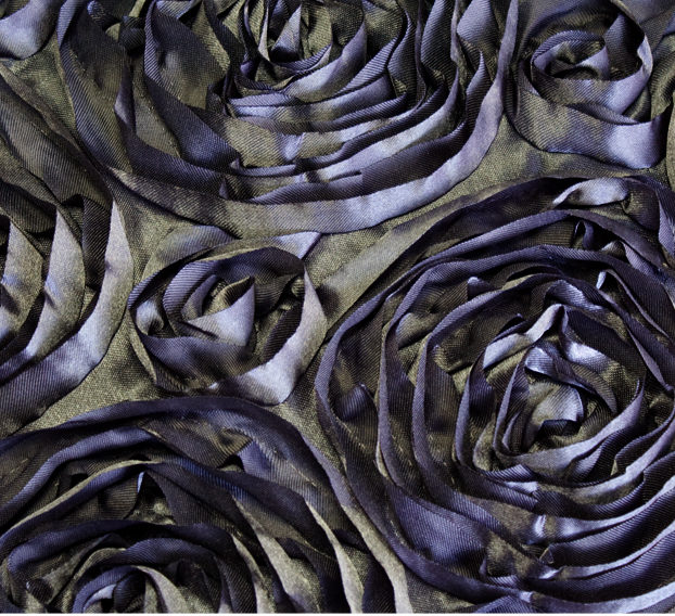 Charcoal Rosette Linen