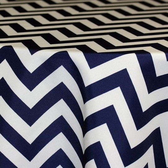Navy & Wite Chevron (Runner)