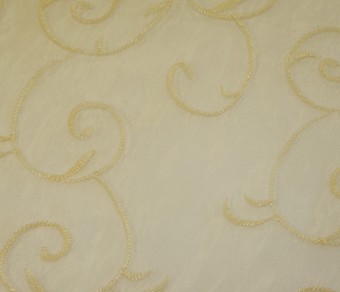 Gold Embroidered Overlay