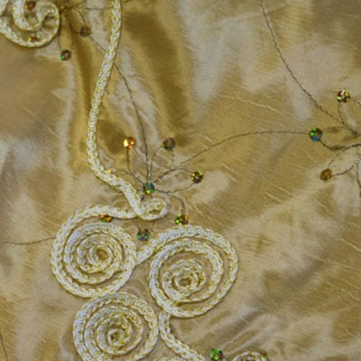 Gold Glam Linen Ribbon Taffeta