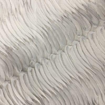 Grey Emma Overlay Grey Chiffon Ruffle Linen