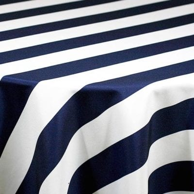 Navy & White Stripe