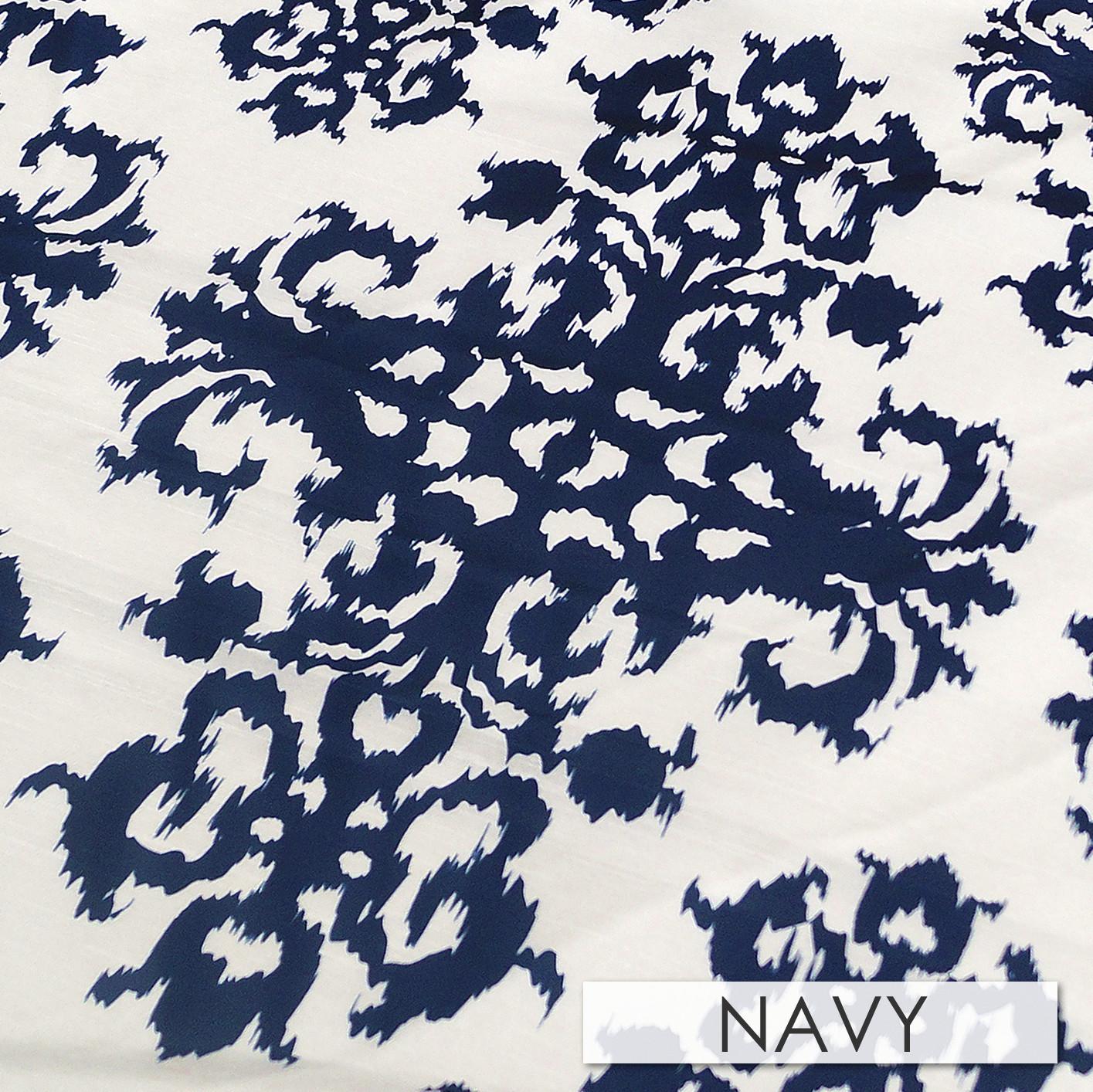 Halo Navy Dupioni Linen
